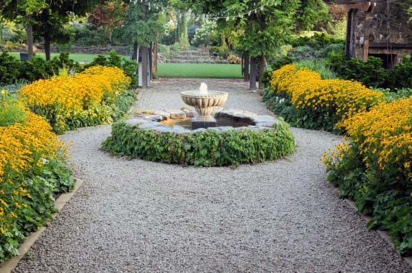 Luxury Walkway Gravel Landscaping Ideas