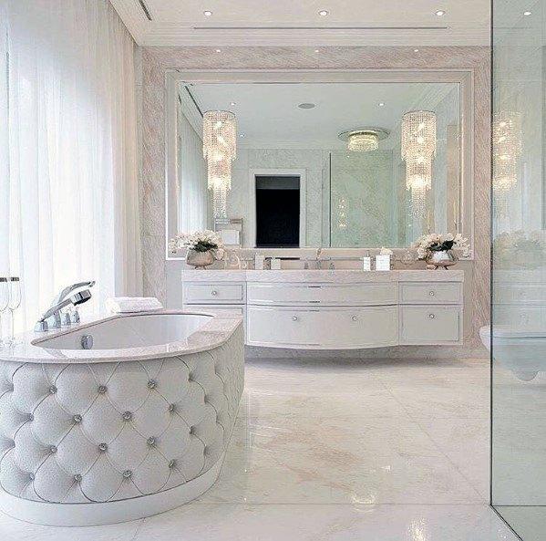 Luxury White Bathroom Ideas