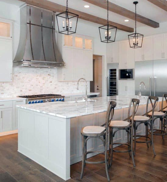 53 Best White Kitchen Designs: Top 60 Best White Kitchen Ideas