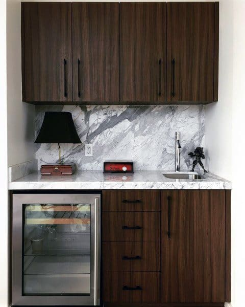Luxury Wood And Marble Small Home Wet Bars