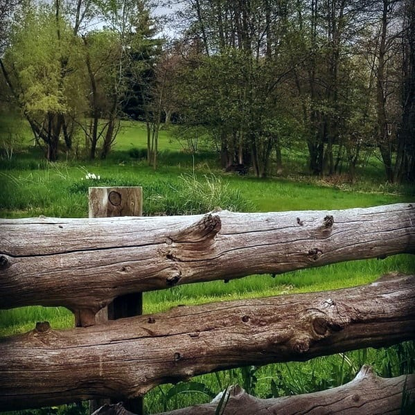 Luxury Wooden Beam Fence Ideas