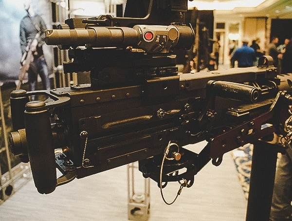 Machine Gun With Multiple Sight Optics