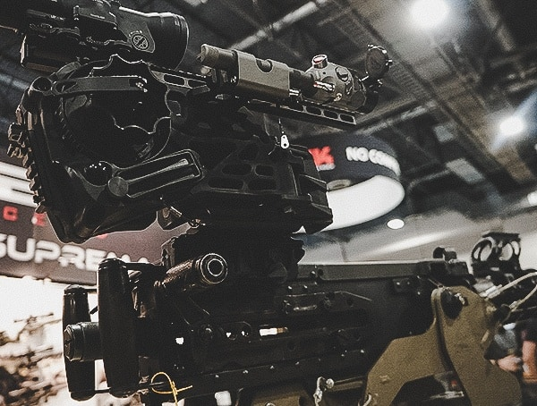 Machine Gun With Optics Shot Show 2019