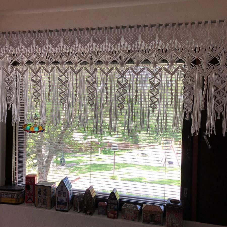 macrame kitchen curtain ideas ellanoppu