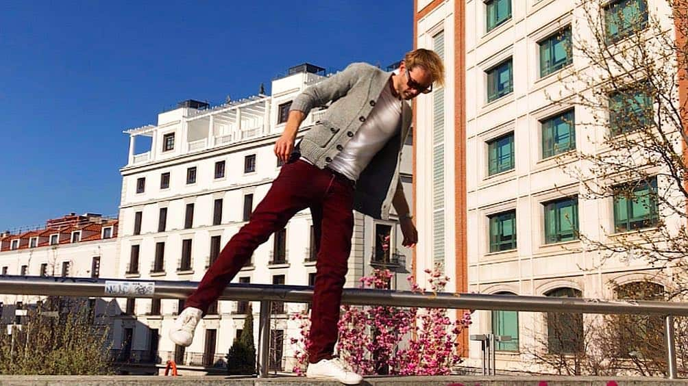 Madrid Casual Red Pants Mens Wear