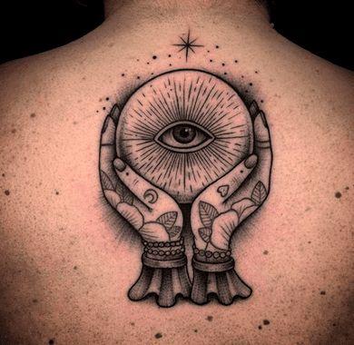 Magic Ball Third Eye Tattoo