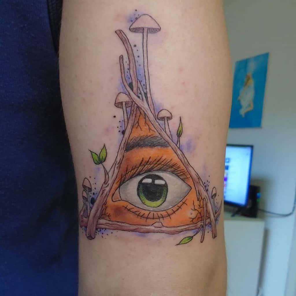 Magic Mushroom Eye Tattoo