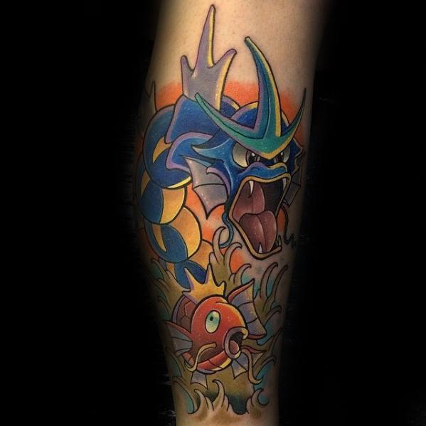 30 Magikarp Tattoo Designs For Men