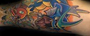 30 Magikarp Tattoo Designs For Men – Pokemon Fish Ideas
