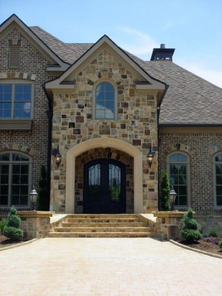 Magnificent Brick And Stone Exterior Design Ideas