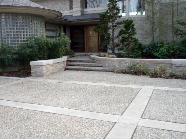 Top 50 Best Concrete Driveway Ideas - Front Yard Exterior Designs