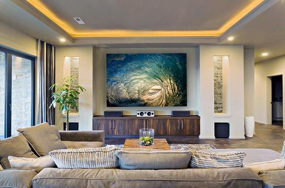 Top 40 best crown molding lighting ideas modern interior - Pictures of living room designs ...