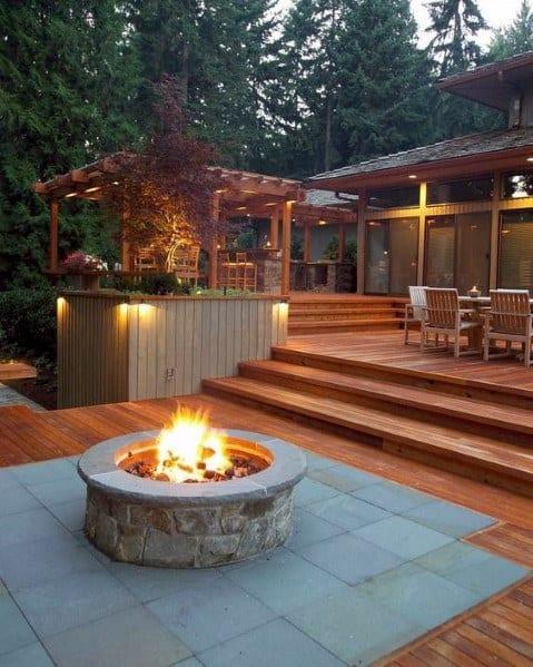 Magnificent Deck Fire Pit Design Ideas