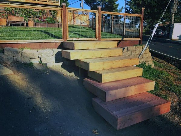 Magnificent Deck Steps Design Ideas