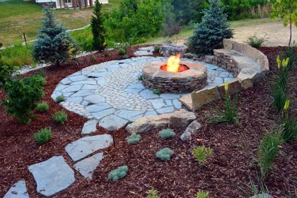 Top 50 Best Fire Pit Landscaping Ideas - Backyard Designs on Garden Ideas With Fire Pit id=65294