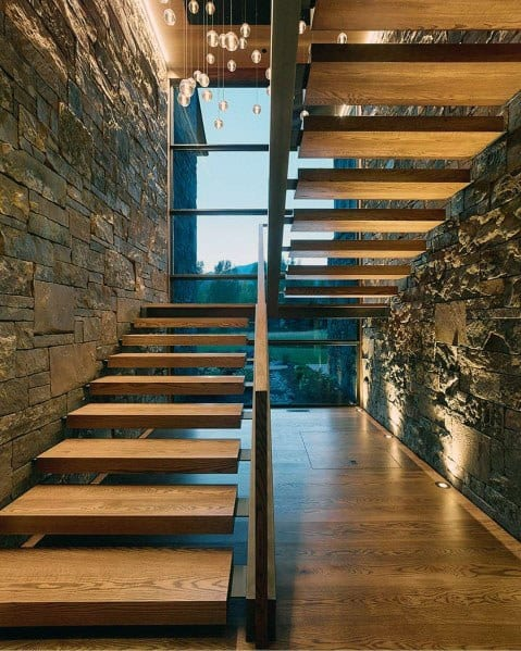 Magnificent Floating Metal Stair Railing Design Ideas