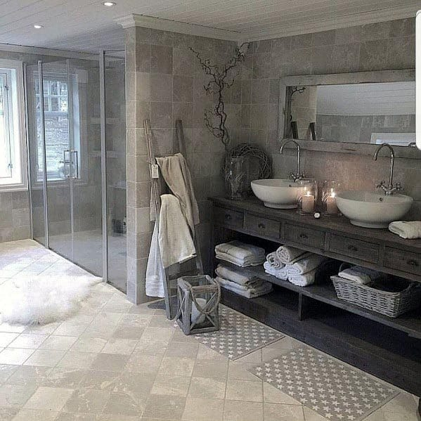 Top 60 Best Grey Bathroom Ideas - Interior Design Inspiration