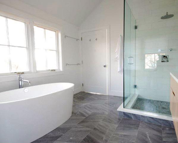 Magnificent Grey Bathroom Tile Design Ideas