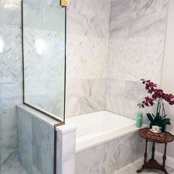 Magnificent Marble Bathroom Bath Tub Surround Design Ideas