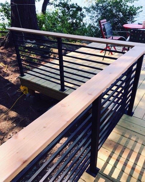 Magnificent Metal Deck Railing Design Ideas