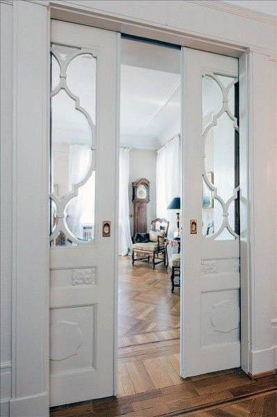 Magnificent Pocket Door Design Ideas With Ornate Window Frames