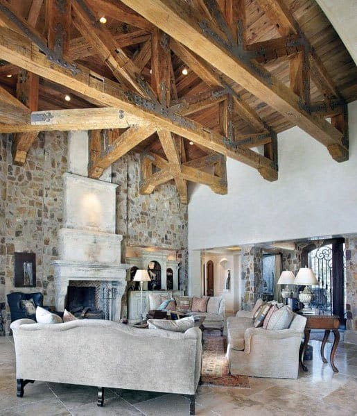 Top 50 Best Rustic Ceiling Ideas Vintage Interior Designs