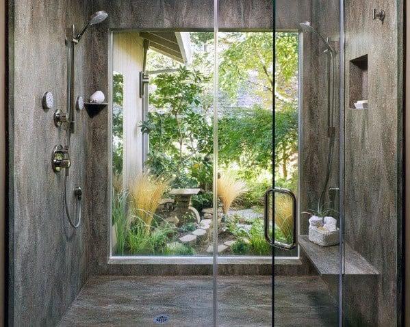 Magnificent Shower Window Design Ideas