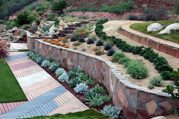 Top 50 Best Slope Landscaping Ideas - Hill Softscape Designs on Inclined Backyard Ideas id=62230