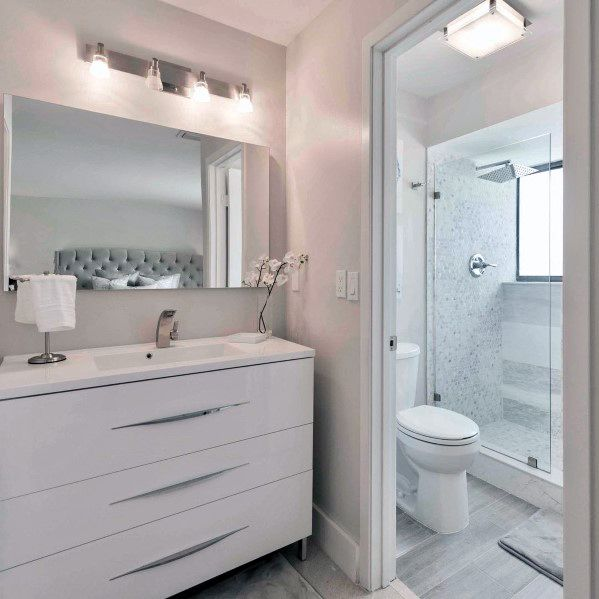 mesmerizing white bathroom design | Top 60 Best White Bathroom Ideas - Home Interior Designs