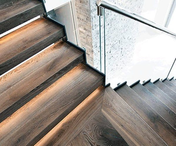 Magnificent Wood Staircase Lighting Design Ideas