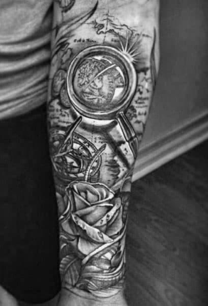 Magnifying Glass Tattoo Inspiration For Men