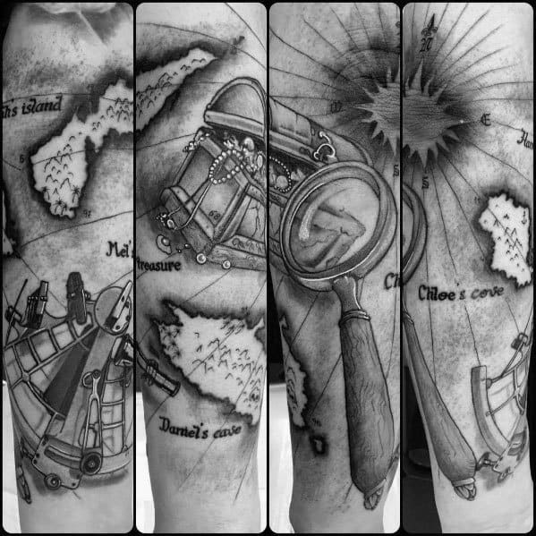 Magnifying Glass Themed Tattoo Ideas For Men