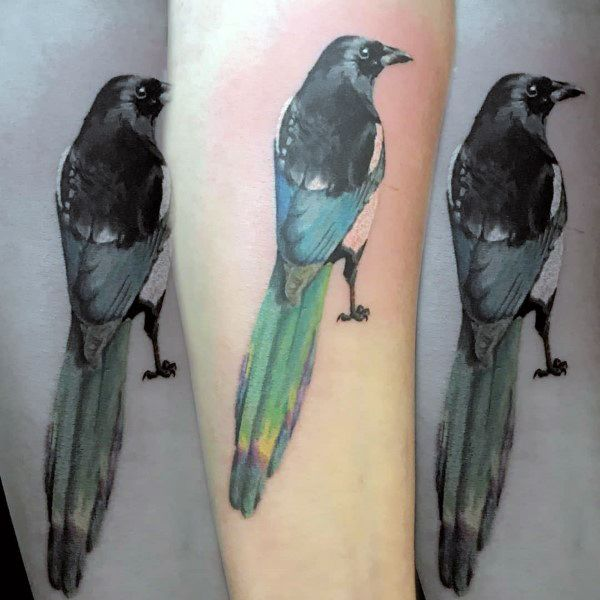 Magpie Tattoo Designs For Men