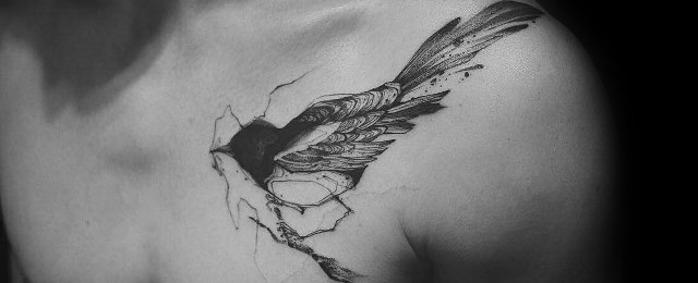50 Magpie Tattoo Designs For Men – Bird Ink Ideas