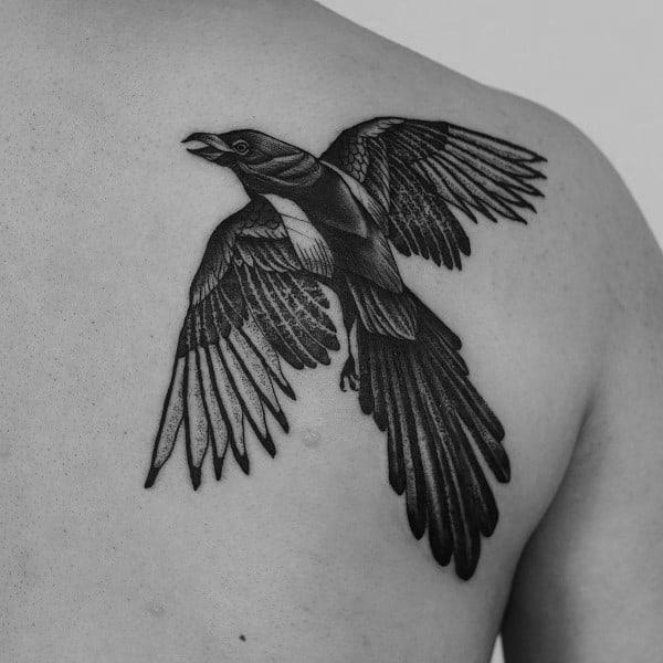 Magpie Tattoos For Gentlemen