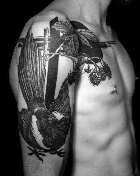 Magpie Tattoos For Men