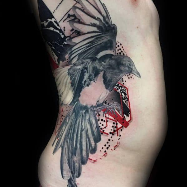Magpie Themed Tattoo Ideas For Men