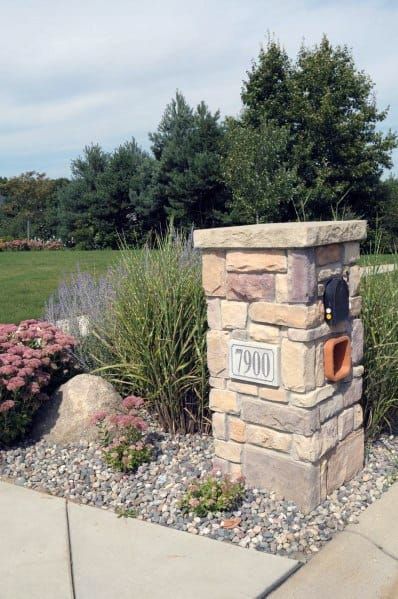 Top 30 Best Mailbox Landscaping Ideas Plant Designs