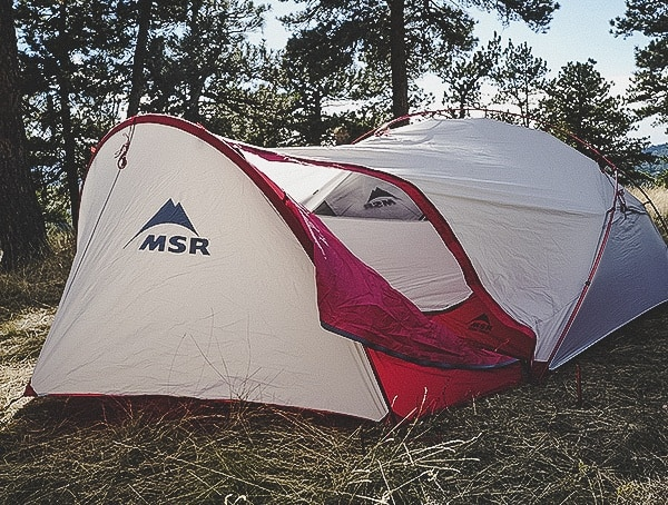 Main Entrance Zip Down Door Msr Hubba Tour 3 Tent