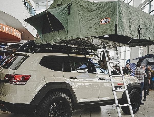 Main Hall Outdoor Retailer Snow Show 2019 Volkswagen With Roof Tent