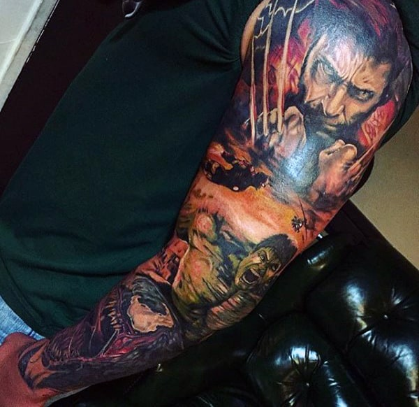 Majestic Hulk Tattoo Male Full Sleeves