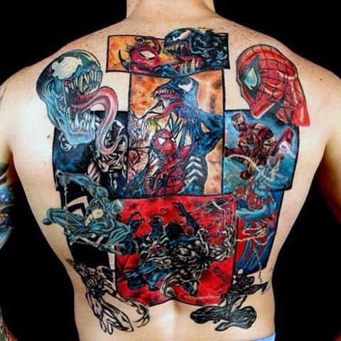 Majestic Spiderman Tattoo Male Back