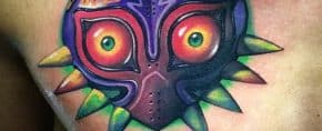 50 Majora's Mask Tattoo Designs For Men – The Legend Of Zelda Ideas