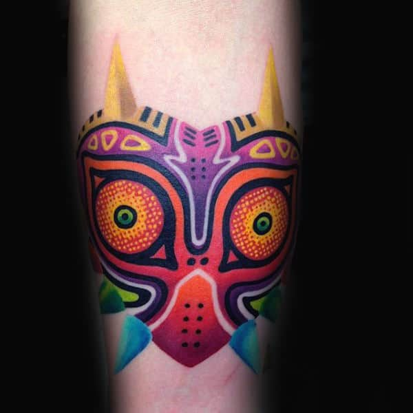 Majoras Mask Video Game Zelda Tattoos For Men