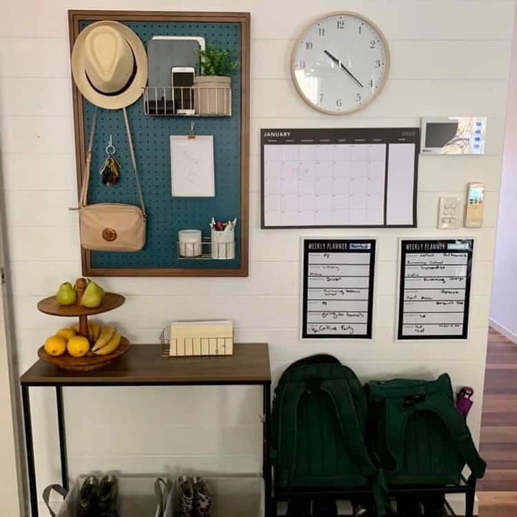 Make Shift Mudroom Pegboard Ideas Pinpegandhome