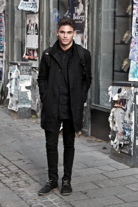 Male All Black Outfits For Fall And Winter Seasons