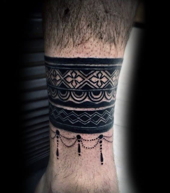 Male Ankle Band Tattoo Ideas