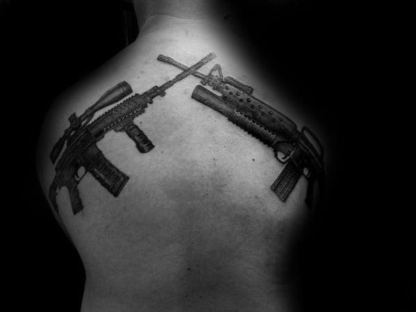Male Ar 15 Themed Tattoo Inspiration