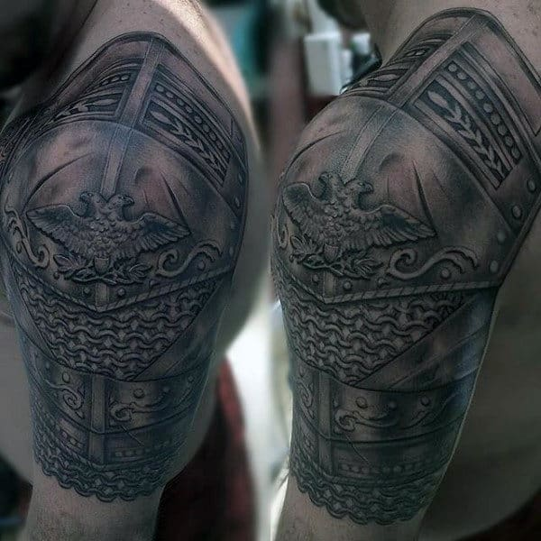 Male Armor Plate Tattoo