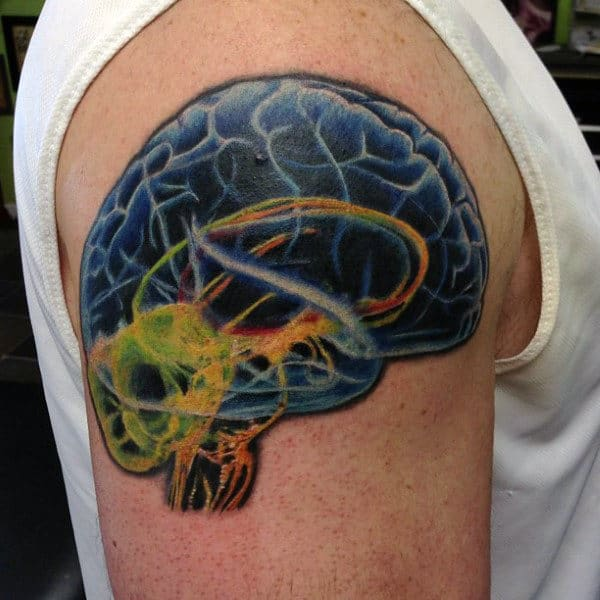 60 Brain Tattoo Designs For Men